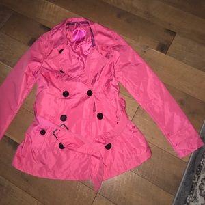Pink rain jacket size S